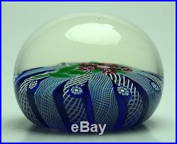 Paul Ysart millefiori flower Paperweight with PY Signature cane