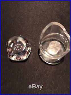 Pentagonal Millifiore Art Glass Paperweight #2 Baccarat
