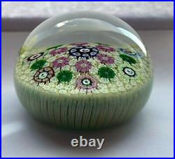 Perthshire Paperweight 1977F Carpet Ground with Rooster Cane