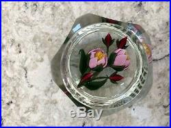 Perthshire Paperweight Flower & Bud Bouquet PP225, with box, certificate No. 014