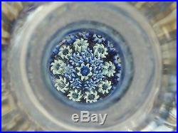 Perthshire Paperweight PP22 Blue Scent Perfume Bottle withStriated Stopper EC