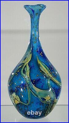 Peter Layton Studio Art Glass Vase. Signed