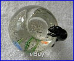 Rare Correia Cat on a Fishbowl, Signed & Numbered Art Glass Paperweight