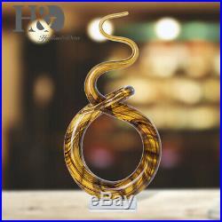 Ribbon Art Glass Blown Sculpture Centerpiece Party Home Decor Gift Murano Style
