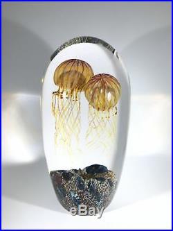 Richard Satava Art Glass Sculpture Giant Lampwork Double Moon Jellyfish