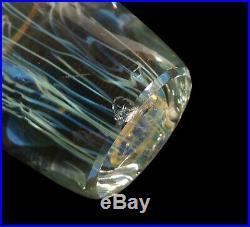 Richard Satava California Studio Art Glass Moon Jellyfish Sculpture Paperweight