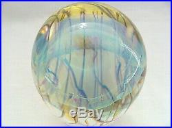 Richard Satava Moon Jellyfish Art Glass Paperweight