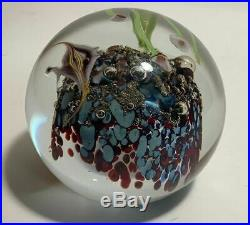 Rick Satava Coral Reef Fine Art Glass Seascape Paperweight Signed Stunning