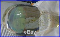 Rick satava large 10 1/2in moon jellyfish glass sculpter 2000 retail