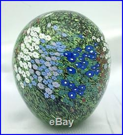 SIGNED PETER RAOS 1995 Egg Ovoid Shape PAPERWEIGHT MONET SERIES SPRING