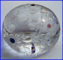Saint Louis Botticelli Kristall Paperweight, Rarität, Briefbeschwerer