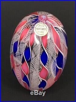 Saint Louis France Art Glass Egg Shaped Paperweight