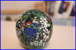 Signed 1992 Peter Raos Paperweight Monet Series Spring