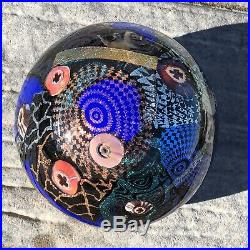 Signed 2002 Vanderlaan Art Glass Paperweight