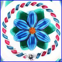 Signed Charles Kaziun III Striped Flower with Torsade