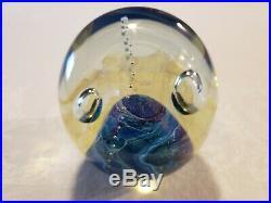 Signed Robert Eichholt Art Glass Globe Paperweight