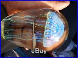 Signed Studio Art Glass Jellyfish Sculpture Paperweight Eickholt