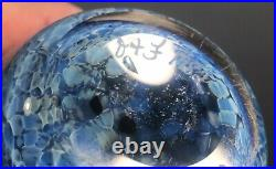 Signed Studio Art Glass Paperweight Vase Orient Flume Lobster 1982 Cabinet Size