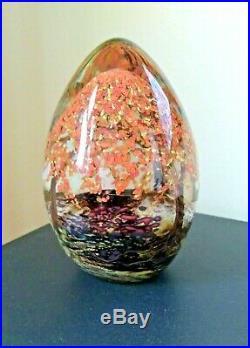 Single Fall Tree, Cathy Richardson Art Glass, Bookend, Paperweight