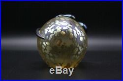 Steven Correia Iridescent Art Glass Snake Serpent Paperweight 1990