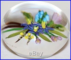 Stunning CHRIS BUZZINI Colorful BOUQUET Art Glass PAPERWEIGHT