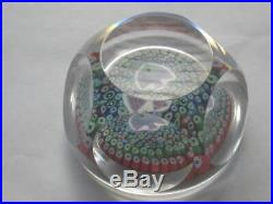 Stunning Rare Whitefriars Millefiori Fish Faceted Paperweight 1976 Cane