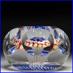 Unusual antique Baccarat mushroom faceted paperweight