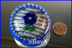 Vintage 1981 Perthshire Floral Flower Paperweight Thin