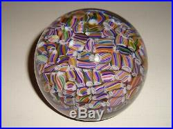 Vintage Baccarat Millefiori French Art Glass 2.75 Paperweight Signed