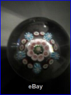Vintage Clichy France Baccarat St Louis French Glass 2 Millefiori Paperweight