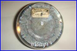 Vintage Perthshire Concentric Millefiori Latticinio Paperweight P 1974