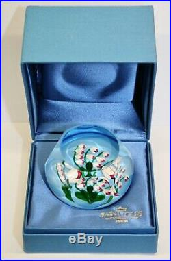 Vintage SAINT LOUIS Limited Edition LILIES OF THE VALLEY Glass Paperweight 1986