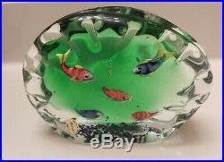 Wonderful Large Murano Art Glass Fish Ocean Aquarium Paperweight